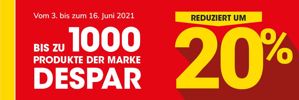 Fino a 1000 prodotti firmati Despar scontati del 20%